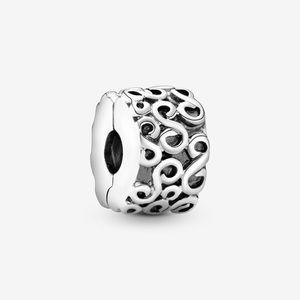 Retired Pandora Charm- swirl clip